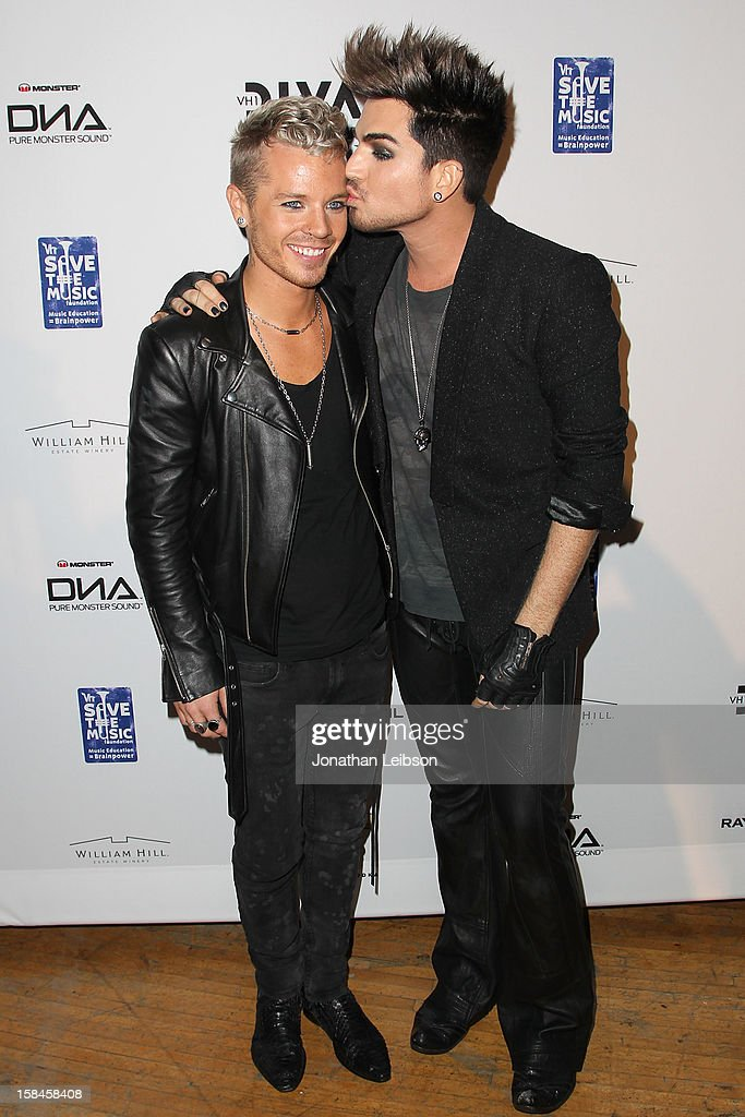 Sauli Koskinen and Adam Lambert attend the VH1 Divas After Party To Benefit The VH1 Save The Music Foundation at The Shrine Auditorium on December 16, 2012 in Los Angeles, California.