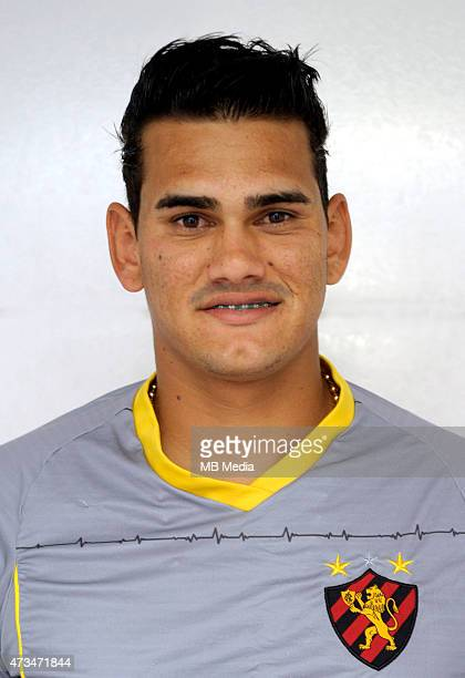 Saulo of Sport Club do Recife poses during a portrait session on August 14 2015 in RecifeBrazil