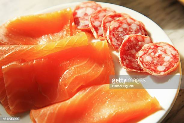Saumon, Salami
