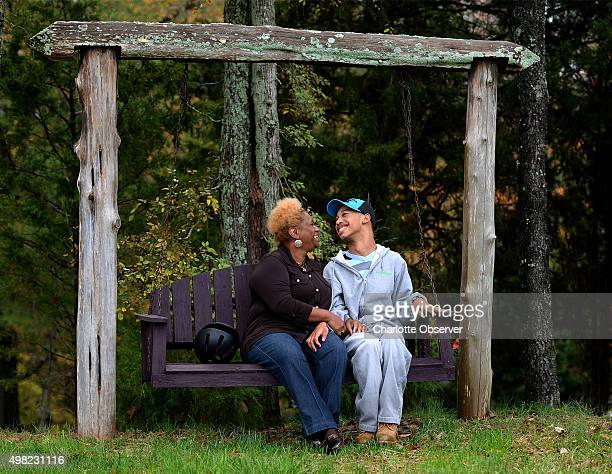 Saundra Adams left and Chancellor Lee Adams on November 4 2015 at Misty Meadows in Weddington NC on November 4 2014 Chancellor is the son of former...