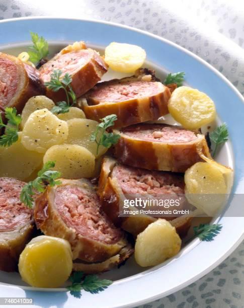 Sausage in brioche crust