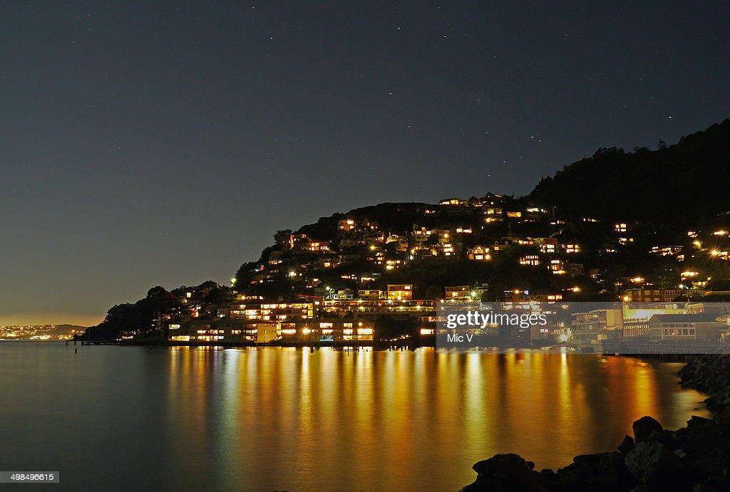 Sausalito at night