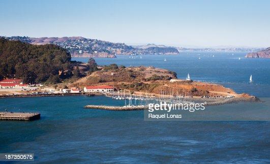 Sausalito Harbor with boats on San Francisco Bay