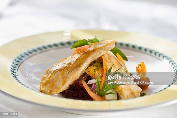 Sauteed chicken breast with vegetables