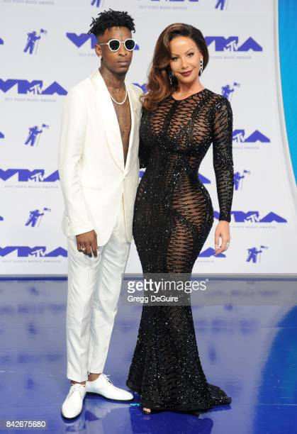 Savage and Amber Rose arrive at the 2017 MTV Video Music Awards at The Forum on August 27 2017 in Inglewood California