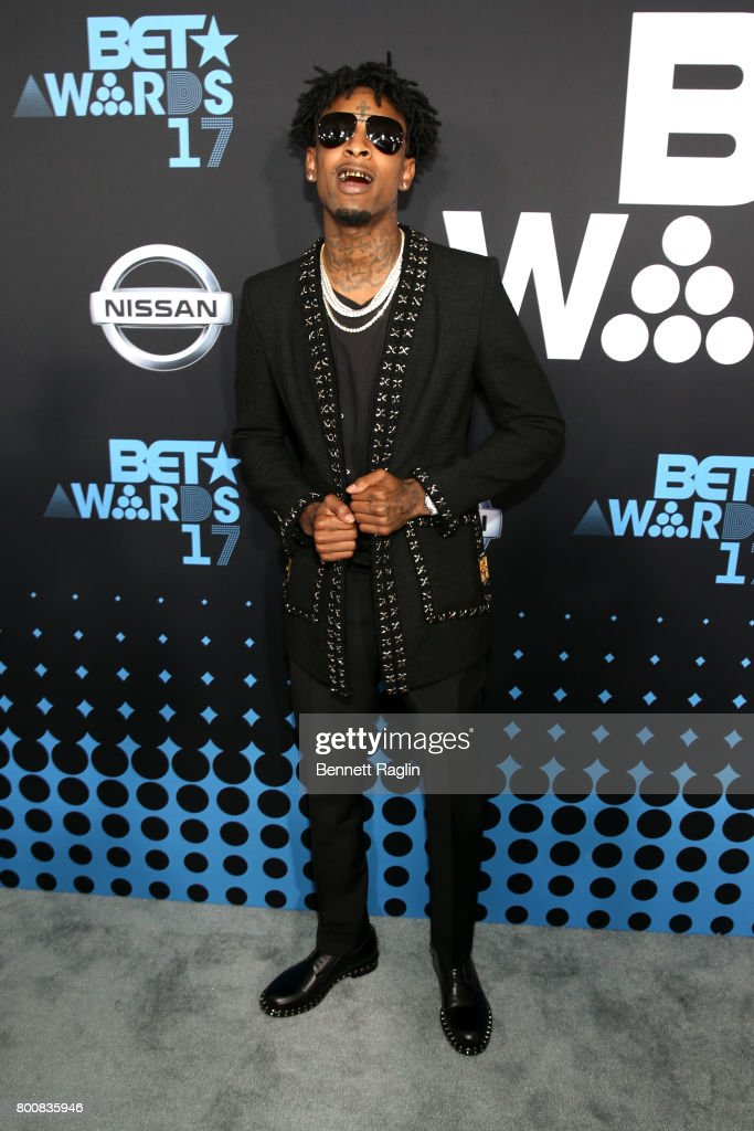 21 Savage at the 2017 BET Awards at Staples Center on June 25, 2017 in Los Angeles, California.