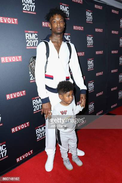 Savage attends the 2017 REVOLT Music Conference Chairman's Welcome Ceremony at Eden Roc Hotel on October 12 2017 in Miami Beach Florida