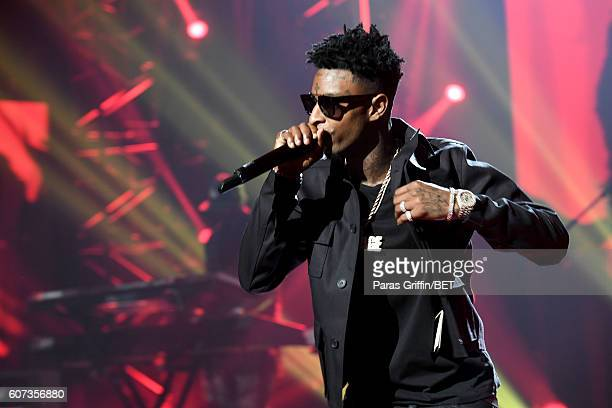 Savage performs onstage during the 2016 BET Hip Hop Awards at Cobb Energy Performing Arts Center on September 17 2016 in Atlanta Georgia