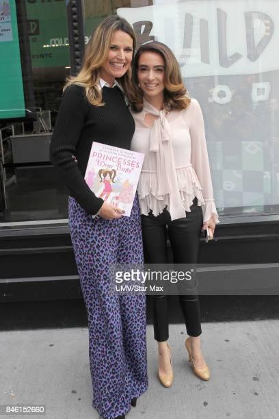 Savanah Guthrie and Allison Oppenheim are seen on September 12 2017 in New York City