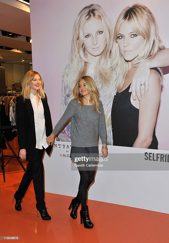 Savanna and Sienna Miller pose together during the launch of their new Twenty8Twelve collection at Selfridges on March 14, 2011 in London, England.