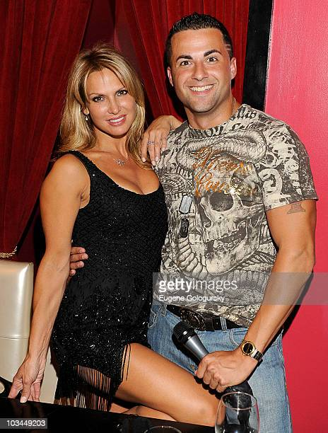 Savanna Samson and Jeff Miranda attend a taping of 'Steppin' Out of the Tabloids with Chaunce Hayden' at Sapphire New York on August 18 2010 in New...