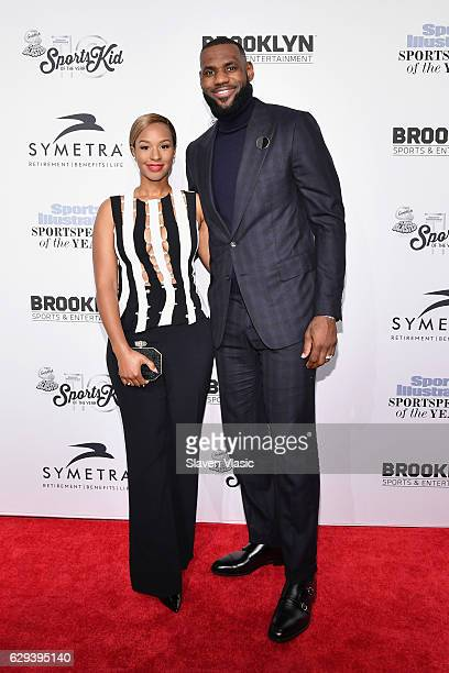 Savannah Brinson and Basketball Player Lebron James attend the Sports Illustrated Sportsperson of the Year Ceremony 2016 at Barclays Center of...