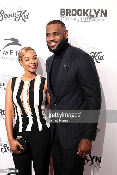 Savannah Brinson and event honoree LeBron James attend the 2016 Sports Illustrated Sportsperson of the Year event at Barclays Center of Brooklyn on...
