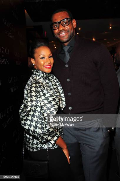 Savannah Brinson and LeBron James attend GUCCI Cocktail Party for FFAWN at Gucci on 5th Avenue on September 16 2009 in New York City