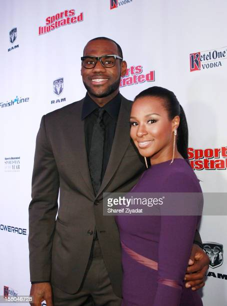 Savannah Brinson and LeBron James attend the 2012 Sports Illustrated Sportsman of the Year award presentation at Espace on December 5 2012 in New...