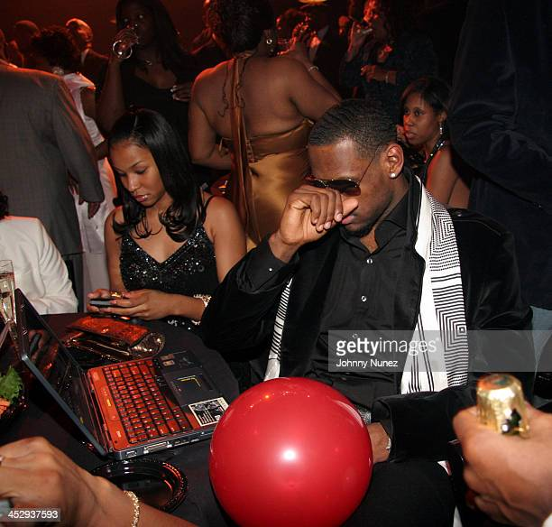 Savannah Brinson and LeBron James during New Year's 2006 in Detroit Richard RIP Hamilton and Lebron James Party New Year's Eve Gala at The Music Hall...