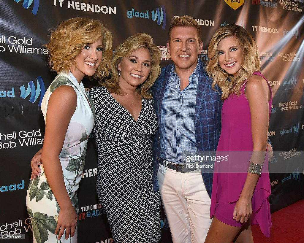 Savannah Chrisley, Julie Chrisley; Todd Chrisley and Lindsie Chrisley Campbell attend The Concert For Love And Acceptance at City Winery Nashville on June 12, 2015 in Nashville, Tennessee.