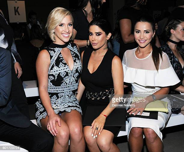 Savannah Chrisley Symon and Andi Dorfman attend the Nicole Miller show during New York Fashion Week The Shows September 2016 at The Gallery Skylight...