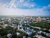 Series of shots taken high above Savannah, GA