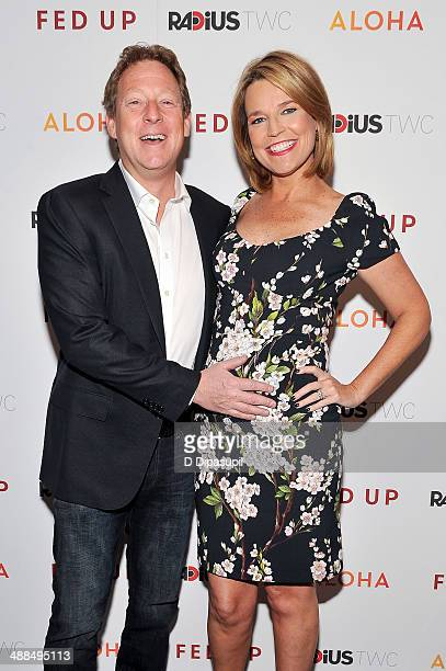 Savannah Guthrie and husband Michael Feldman attend the 'Fed Up' premiere at the Museum of Modern Art on May 6 2014 in New York City
