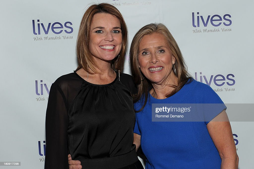 <a gi-track='captionPersonalityLinkClicked' href=/galleries/search?phrase=Savannah+Guthrie&family=editorial&specificpeople=653313 ng-click='$event.stopPropagation()'>Savannah Guthrie</a> and <a gi-track='captionPersonalityLinkClicked' href=/galleries/search?phrase=Meredith+Vieira&family=editorial&specificpeople=217718 ng-click='$event.stopPropagation()'>Meredith Vieira</a> attend the 'LIVES with <a gi-track='captionPersonalityLinkClicked' href=/galleries/search?phrase=Meredith+Vieira&family=editorial&specificpeople=217718 ng-click='$event.stopPropagation()'>Meredith Vieira</a>' Launch Party at Gramercy Park Hotel on September 17, 2013 in New York City.