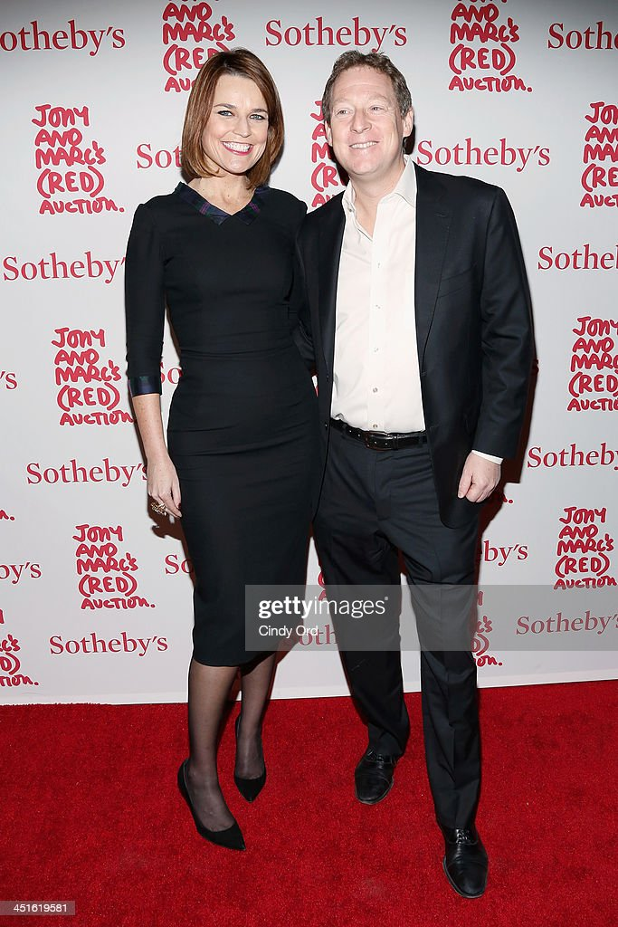 <a gi-track='captionPersonalityLinkClicked' href=/galleries/search?phrase=Savannah+Guthrie&family=editorial&specificpeople=653313 ng-click='$event.stopPropagation()'>Savannah Guthrie</a> and Michael Feldman attend Jony And Marc's (RED) Auction at Sotheby's on November 23, 2013 in New York City. (Photo by Cindy Ord/Getty Images for (RED))