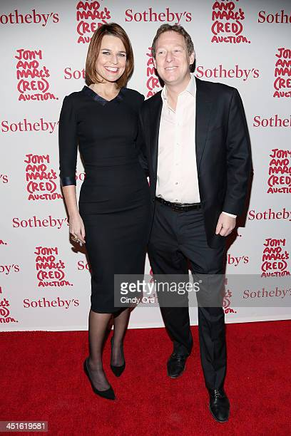 Savannah Guthrie and Michael Feldman attend Jony And Marc's Auction at Sotheby's on November 23 2013 in New York City Photo by Cindy Ord/Getty Images...