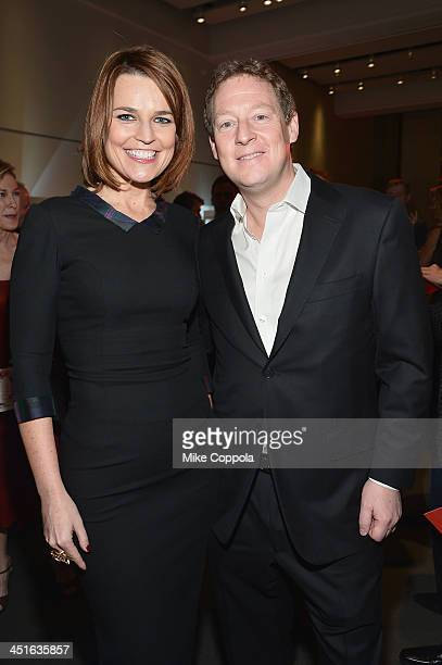 Savannah Guthrie and Michael Feldman attend the VIP Reception at Jony And Marc's Auction at Sotheby's on November 23 2013 in New York City Photo by...