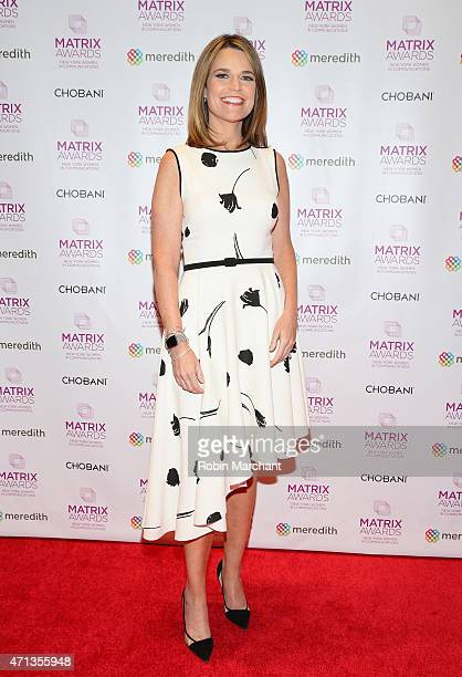 Savannah Guthrie attends 2015 Matrix Awards at The Waldorf=Astoria on April 27 2015 in New York City