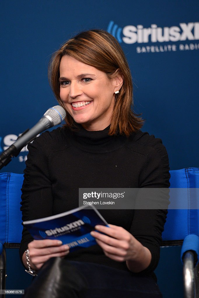 Savannah Guthrie attends 'SiriusXM's Town Hall with Jon Bon Jovi' and moderator Savannah Guthrie at the SiriusXM studios on February 4, 2013 in New York City.