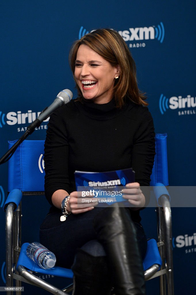 <a gi-track='captionPersonalityLinkClicked' href=/galleries/search?phrase=Savannah+Guthrie&family=editorial&specificpeople=653313 ng-click='$event.stopPropagation()'>Savannah Guthrie</a> attends 'SiriusXM's Town Hall with Jon Bon Jovi' and moderator <a gi-track='captionPersonalityLinkClicked' href=/galleries/search?phrase=Savannah+Guthrie&family=editorial&specificpeople=653313 ng-click='$event.stopPropagation()'>Savannah Guthrie</a> at the SiriusXM studios on February 4, 2013 in New York City.