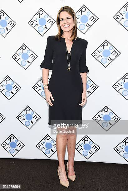 Savannah Guthrie attends the 2016 Room To Grow Spring Benefit at Tribeca Three Sixty on April 14 2016 in New York City