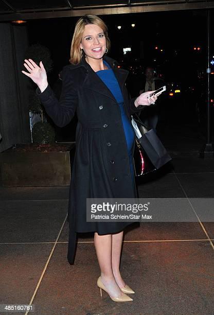 Savannah Guthrie is seen on April 16 2014 in New York City
