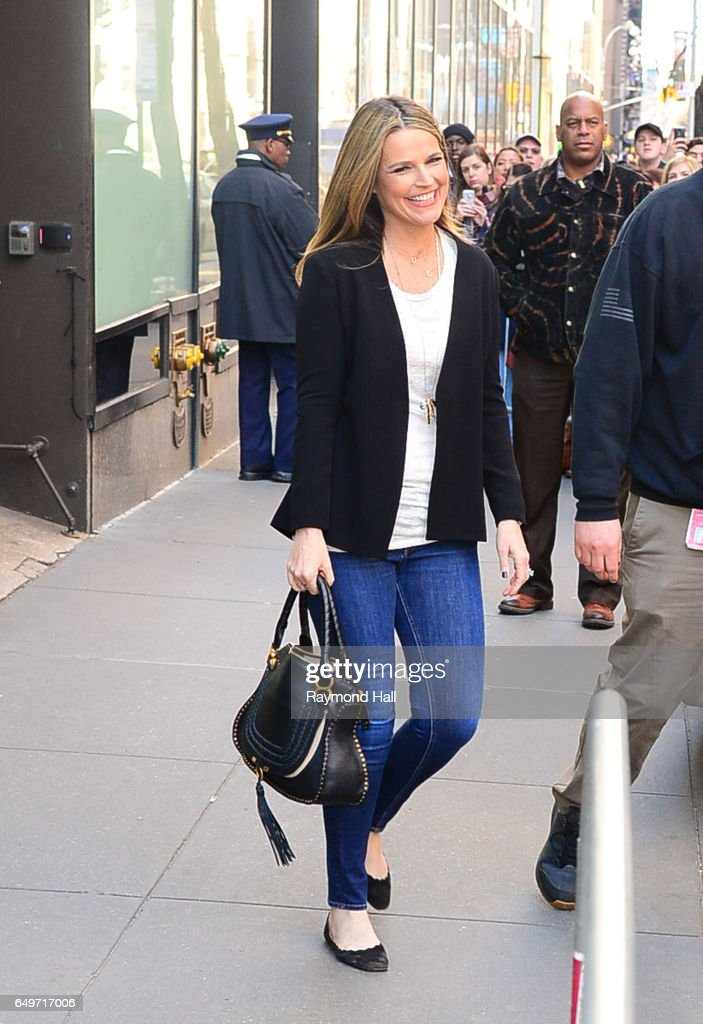 Savannah Guthrie is seen waling in Midtown on March 8, 2017 in New York City.