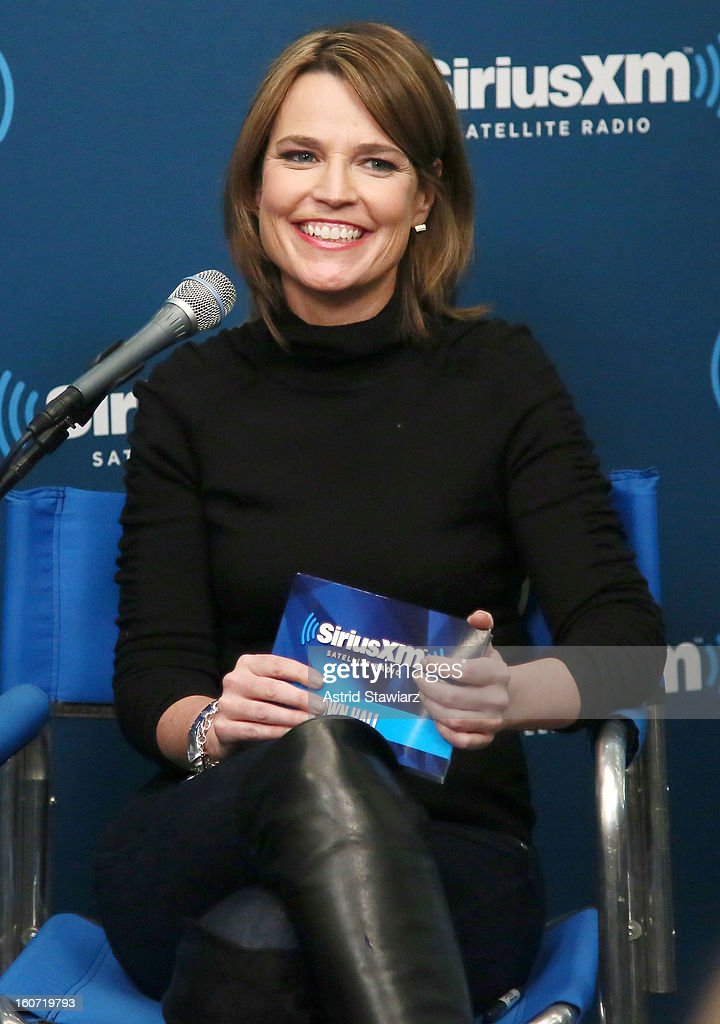 Savannah Guthrie moderates SiriusXM's Town Hall with Jon Bon Joviat SiriusXM Studios on February 4, 2013 in New York City.