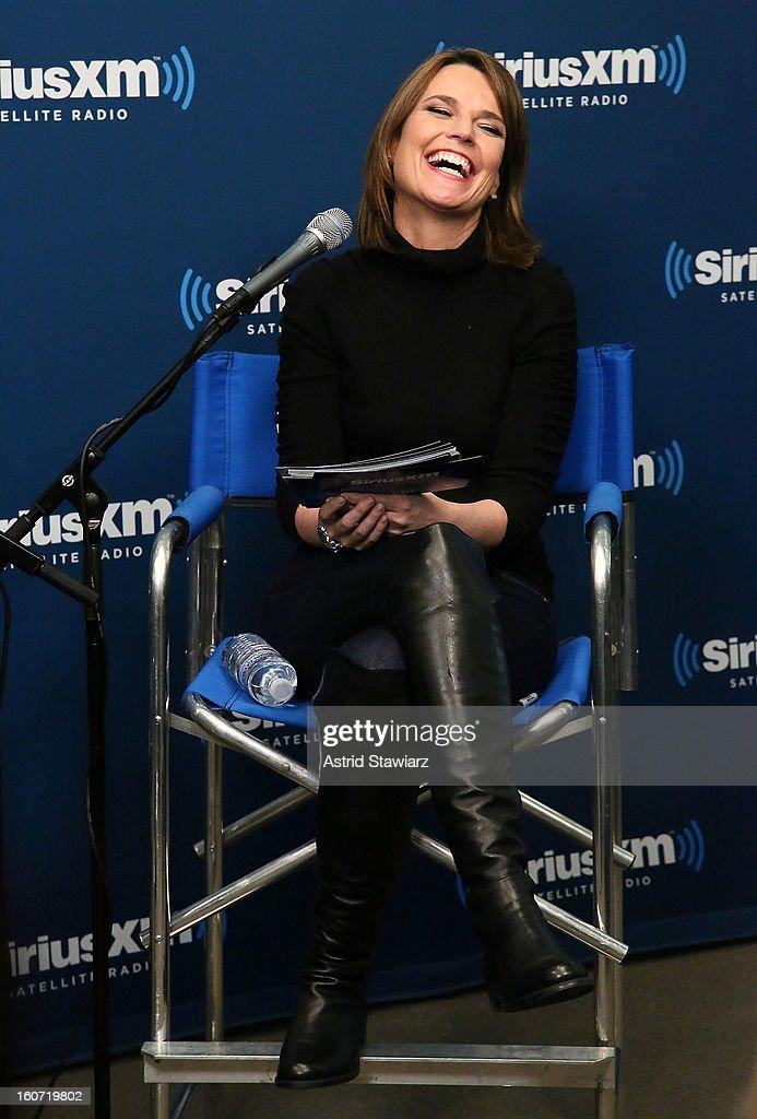 Savannah Guthrie moderates SiriusXM's Town Hall with Jon Bon Joviat SiriusXM Studios on February 4, 2013 in New York City.