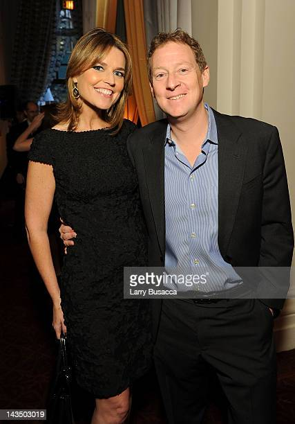Savannah Guthrie of NBC and Michael Feldman attend the PEOPLE/TIME Party on the eve of the White House Correspondents' Dinner on April 27 2012 in...