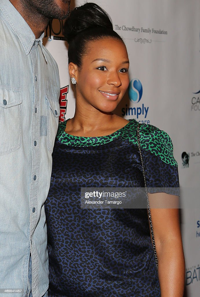 Savannah James arrives at South Beach Battioke 2014 at Fillmore Miami Beach on January 27, 2014 in Miami Beach, Florida.