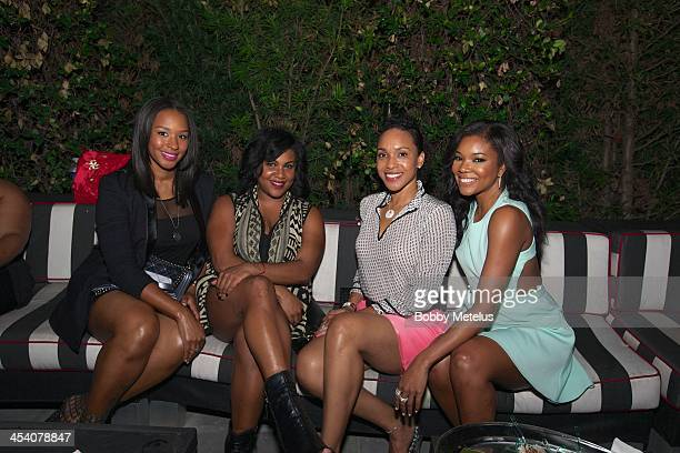 Savannah James Destiny Jones and Gabrielle Union attends BET 'Being Mary Jane' Celebration at Mokai lounge on December 6 2013 in Miami Beach Florida