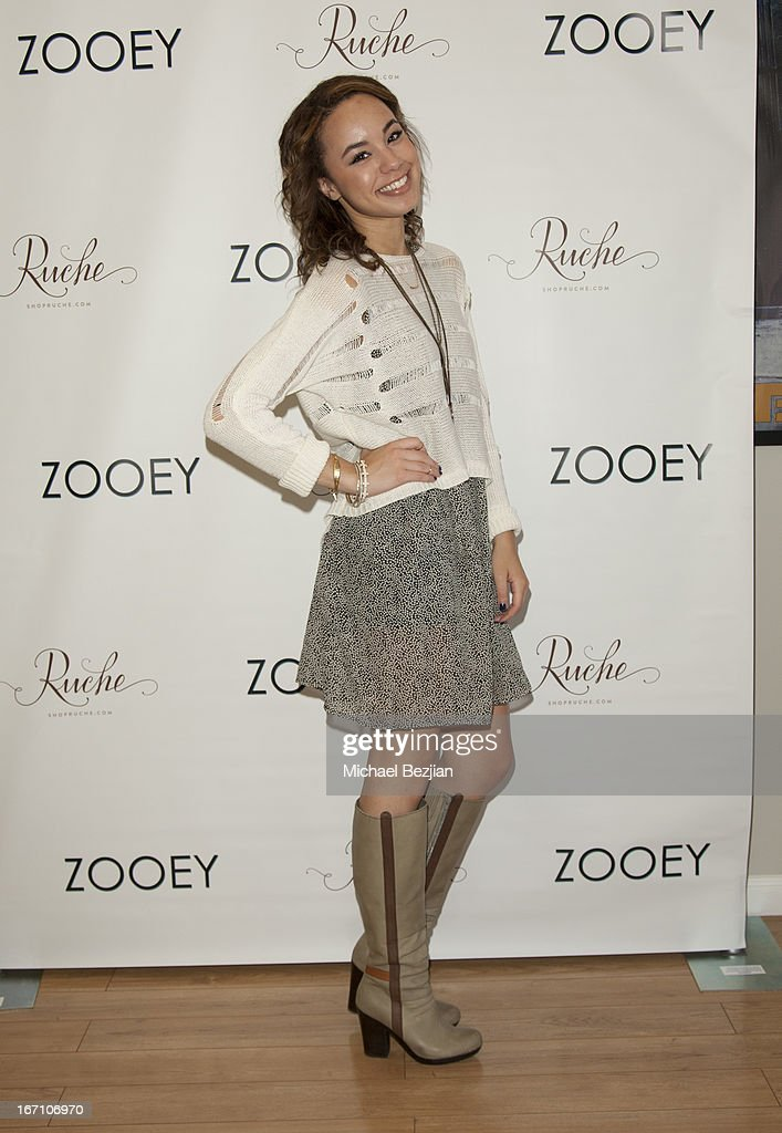 Savannah Jayde attends Zooey Magazine And A Beautiful Mess Present...Crafts & Cocktails Launch Party at Seychelles Shoes' Showroom on April 20, 2013 in El Segundo, California.