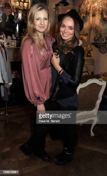 Savannah Miller and Laura Haddock attend afternoon tea hosted by Savannah Miller to celebrate the launch of the Savannah Spring/Summer 2013...