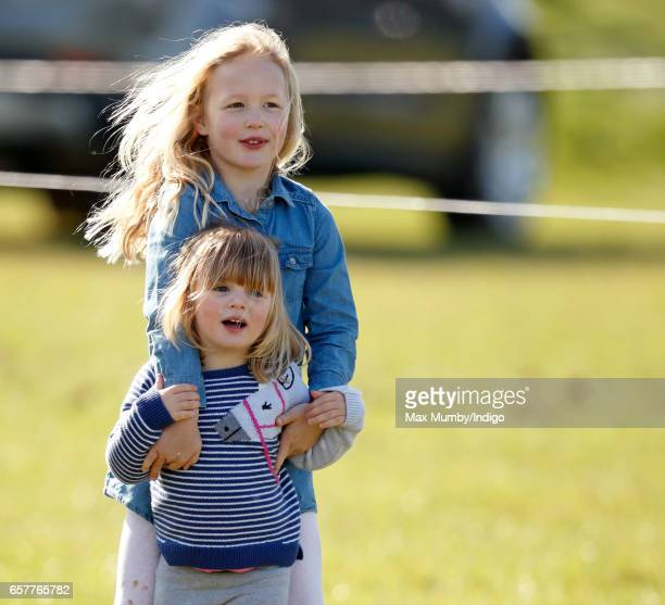 Savannah Phillips and cousin Mia Tindall attend the Gatcombe Horse Trials at Gatcombe Park on March 25 2017 in Stroud England