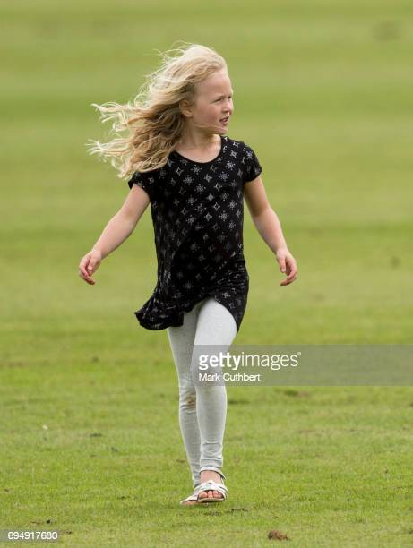Savannah Phillips at The Maserati Royal Polo Trophy match during The Gloucestershire Festival of Polo at Beaufort Polo Club on June 11 2017 in...
