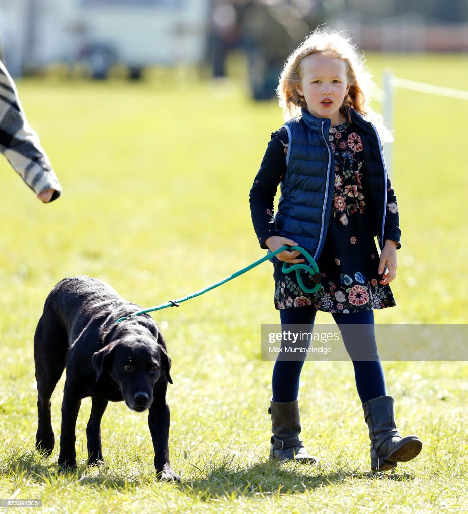 Savannah Phillips attends the Gatcombe Horse Trials at Gatcombe Park on March 26, 2017 in Stroud, England.