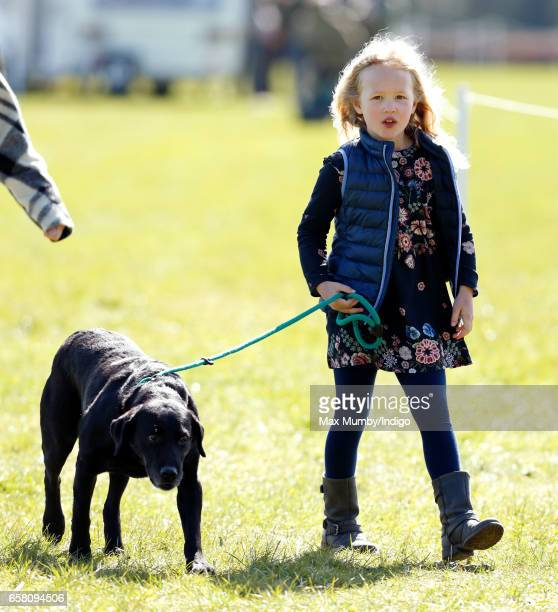 Savannah Phillips attends the Gatcombe Horse Trials at Gatcombe Park on March 26 2017 in Stroud England
