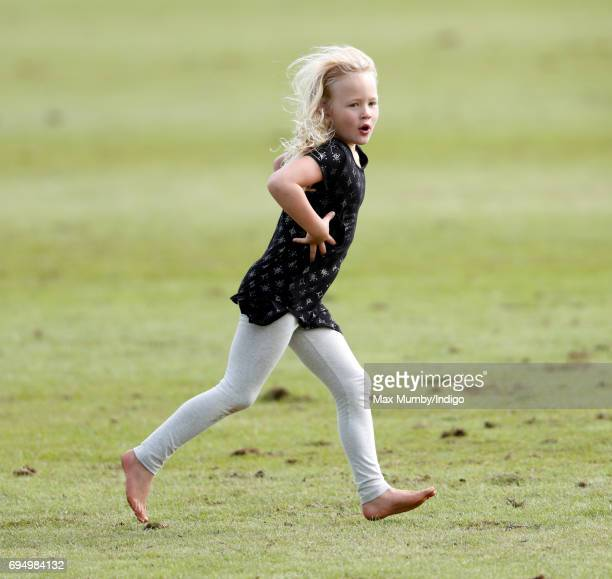 Savannah Phillips attends the Maserati Royal Charity Polo Trophy Match during the Gloucestershire Festival of Polo at the Beaufort Polo Club on June...