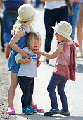 Savannah Phillips Mia Tindall and Isla Phillips attend the Badminton Horse Trials on May 8 2016 in Badminton England