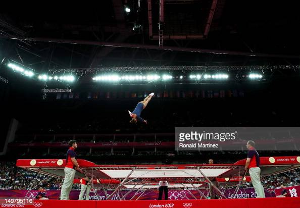 Savannah Vinsant of the United States competes in the Trampoline on Day 8 of the London 2012 Olympic Games at North Greenwich Arena on August 4 2012...