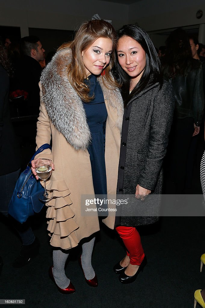 Savannah Wise and Julie Sakayama attend the 'Stoker' New York Screening After Party at Frieda And Roy Furman Gallery on February 27, 2013 in New York City.