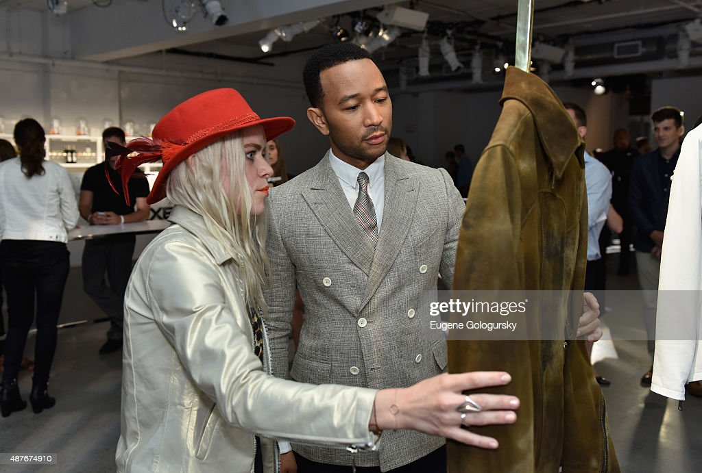 Savannah Yarborough and John Legend attend as AXE and Esquire present the AXE White Label Collective during the opening night of New York Fashion Week on September 10, 2015 at Pop14 in New York City.